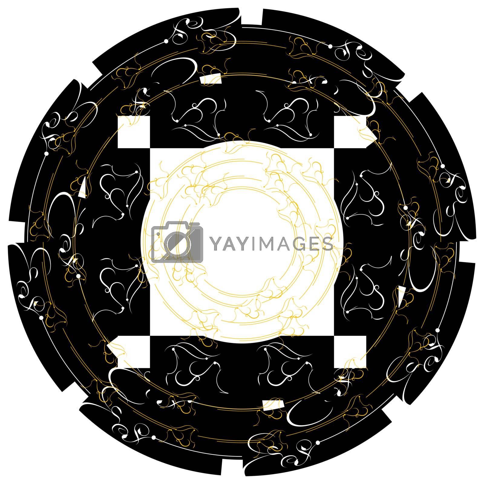 Vintage frames Gold decor label. Vector retro border
