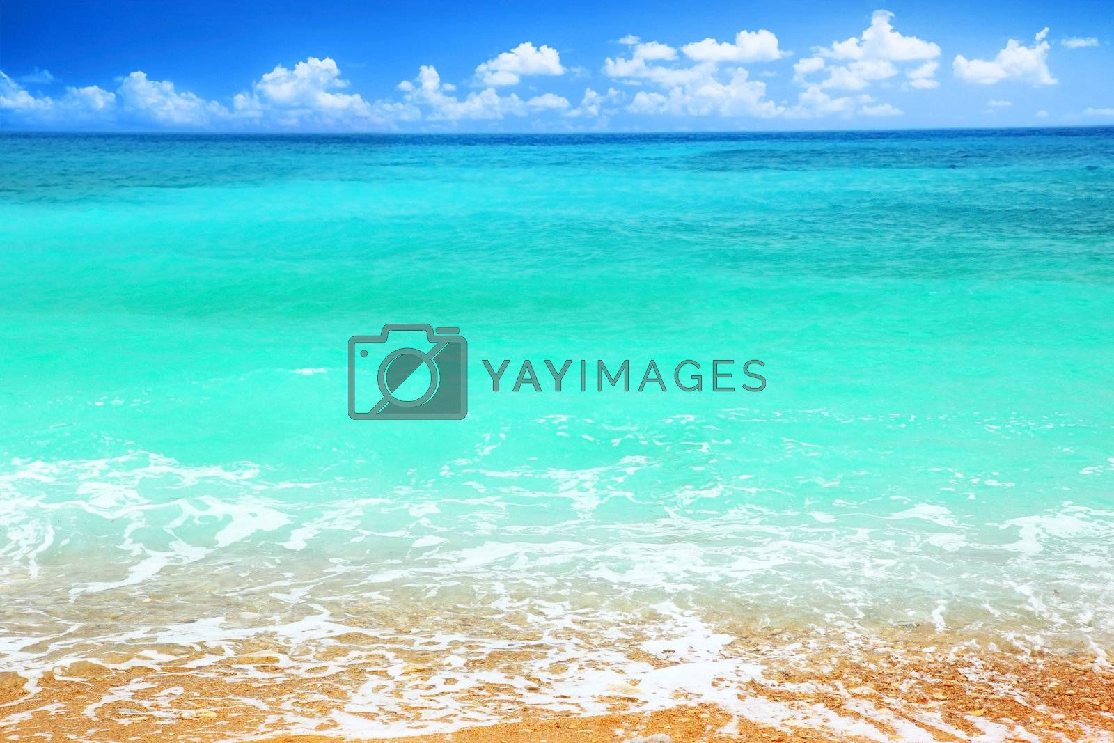 Beautiful panoramic sea view, with clean water & blue sky
