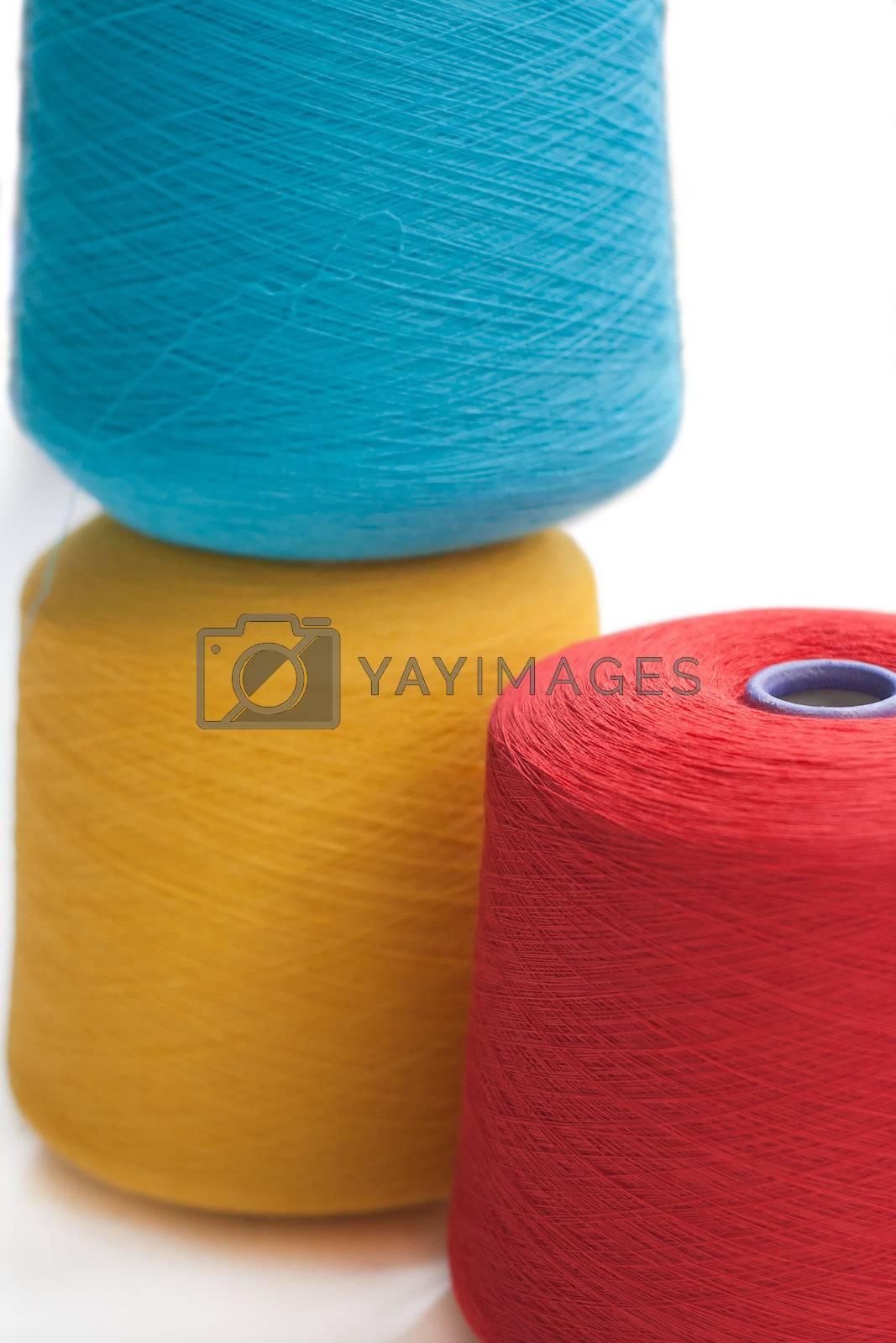 Cone fiber with several colors