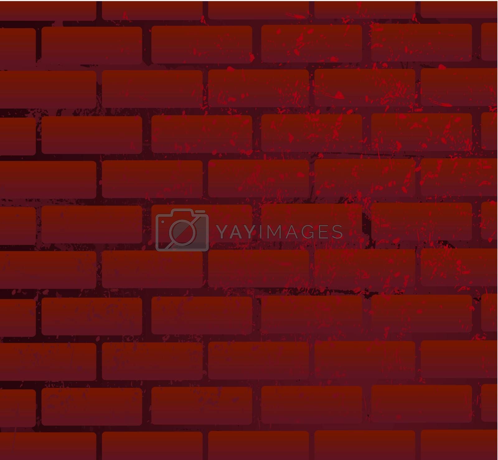 Background as a brick wall of darkly red colour