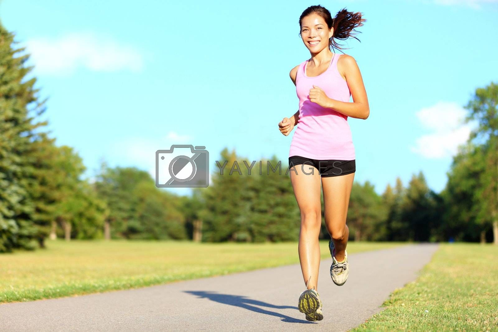 Sport fitness woman running by Maridav