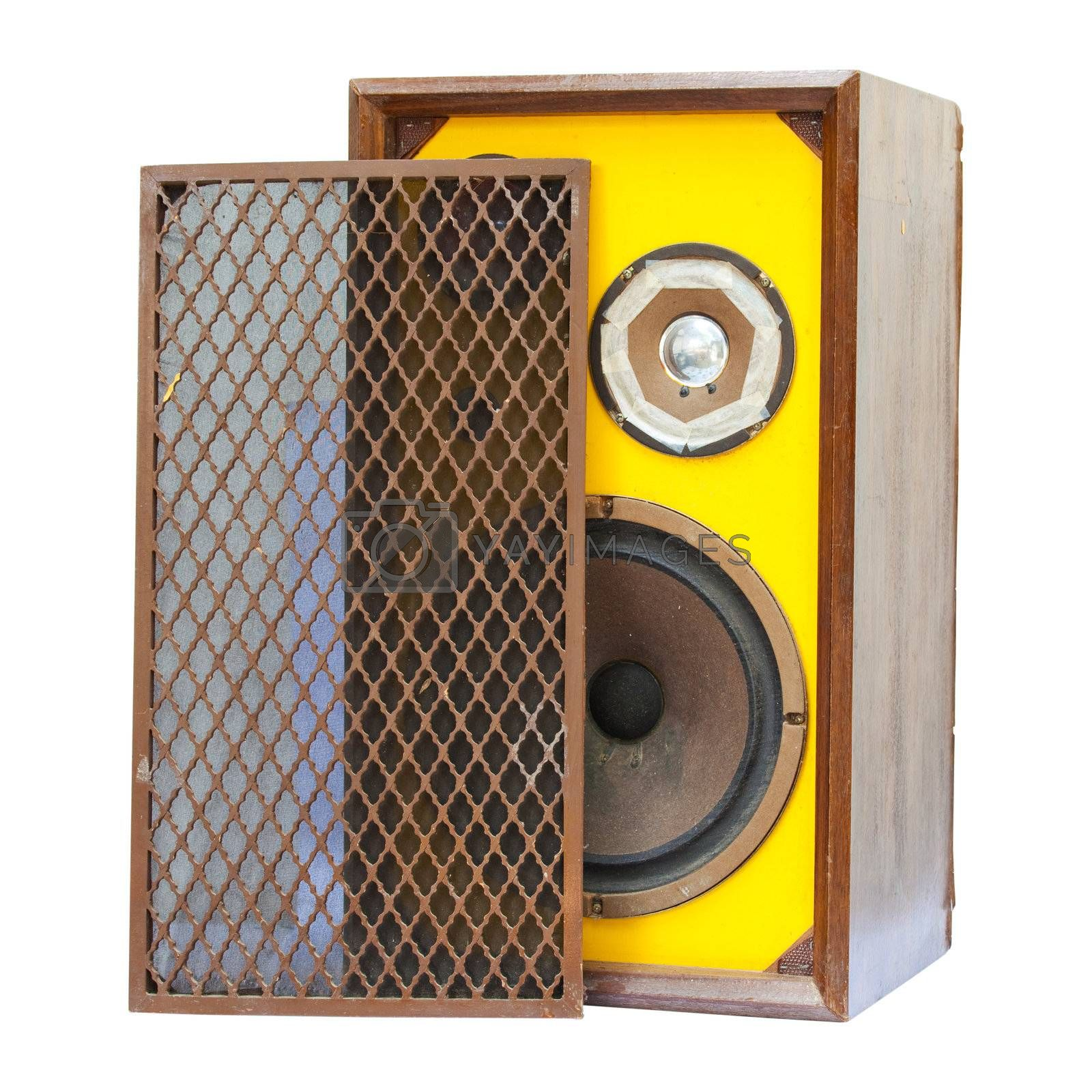 old speaker isolated by witthaya