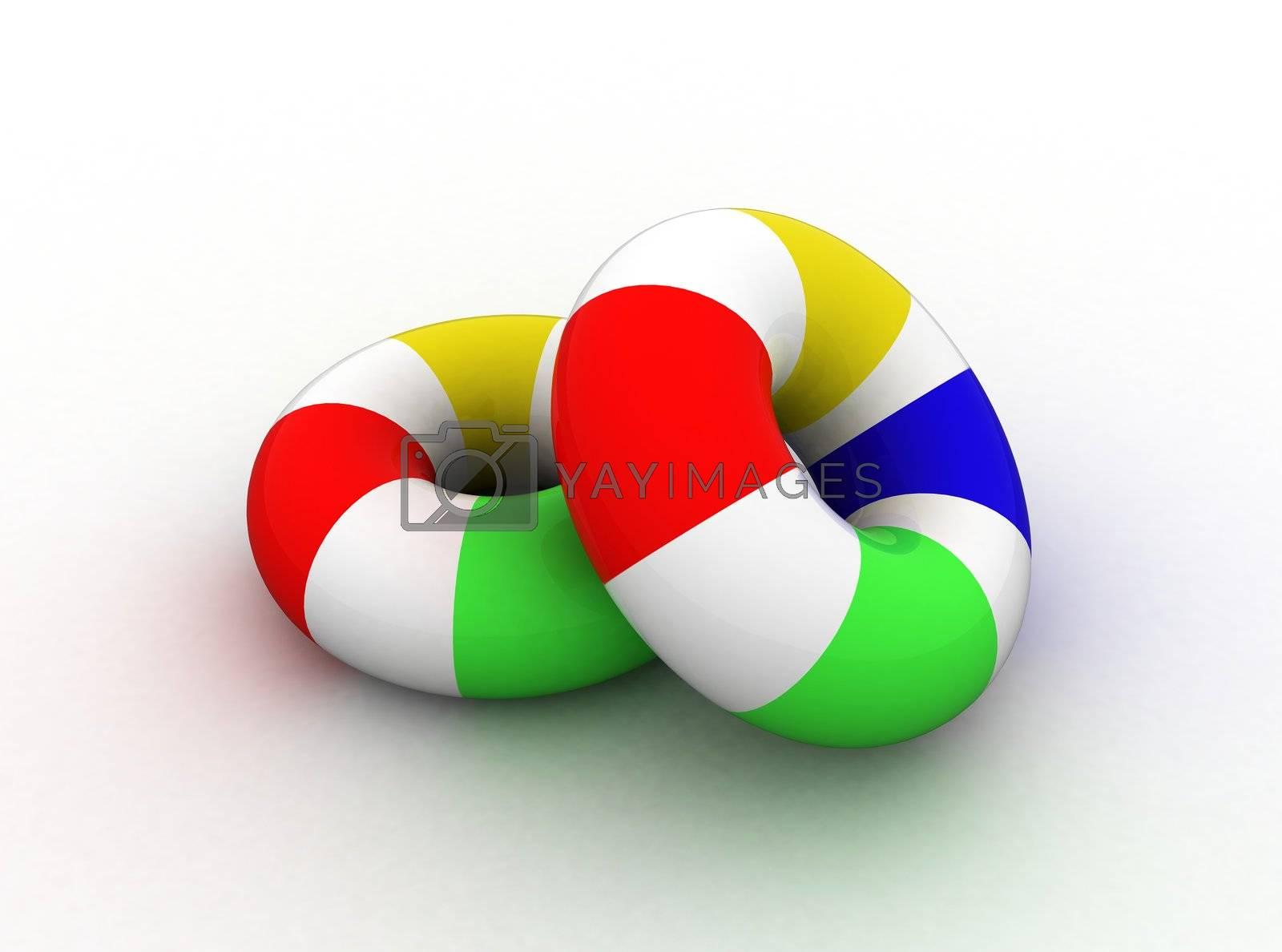 colored lifebelt