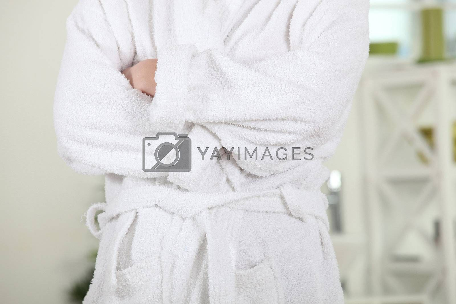 Person in bathrobe by phovoir