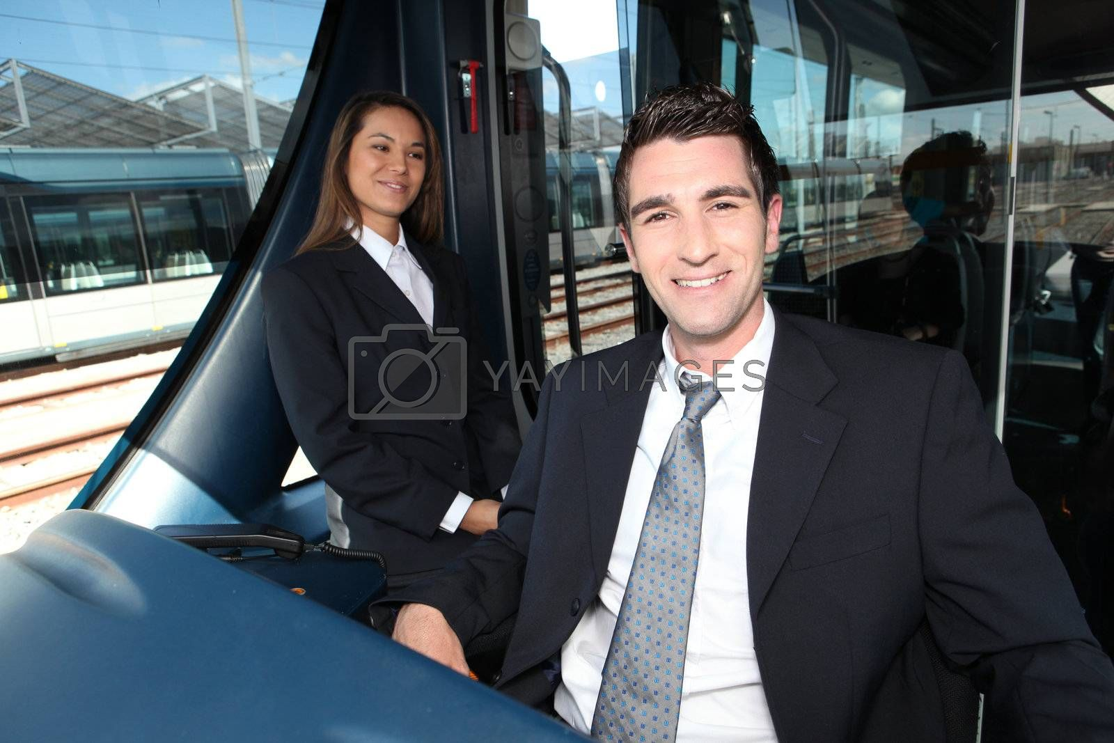 tramway driver by phovoir