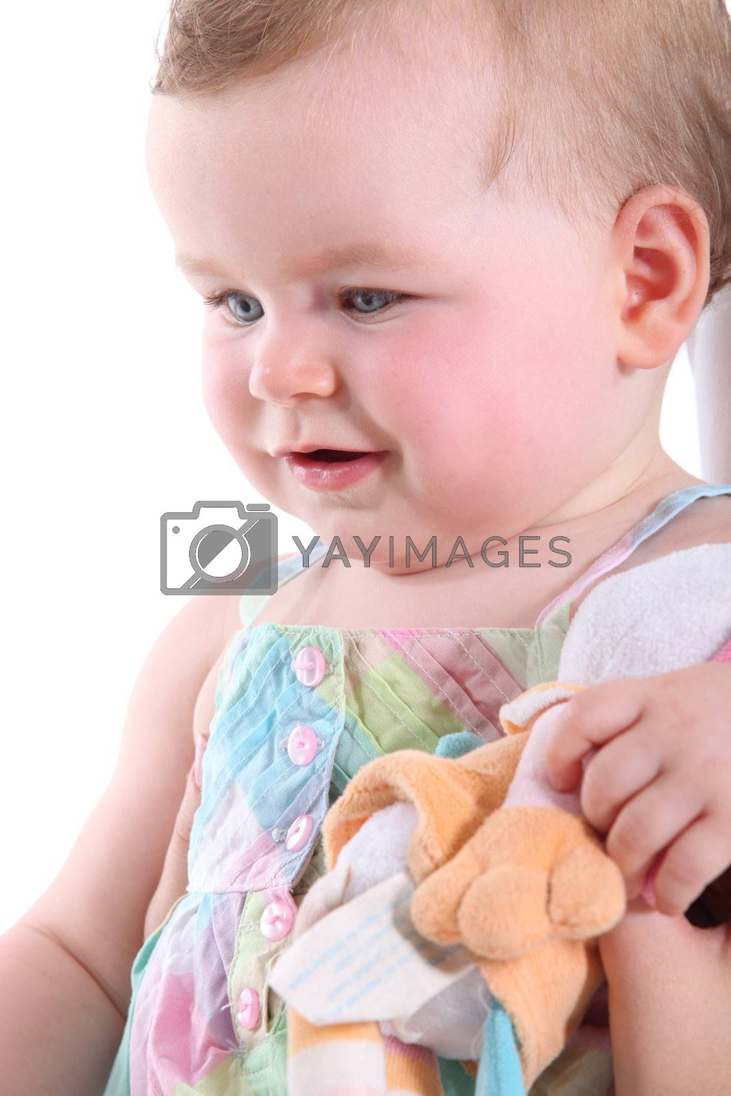 Toddler with toy by phovoir
