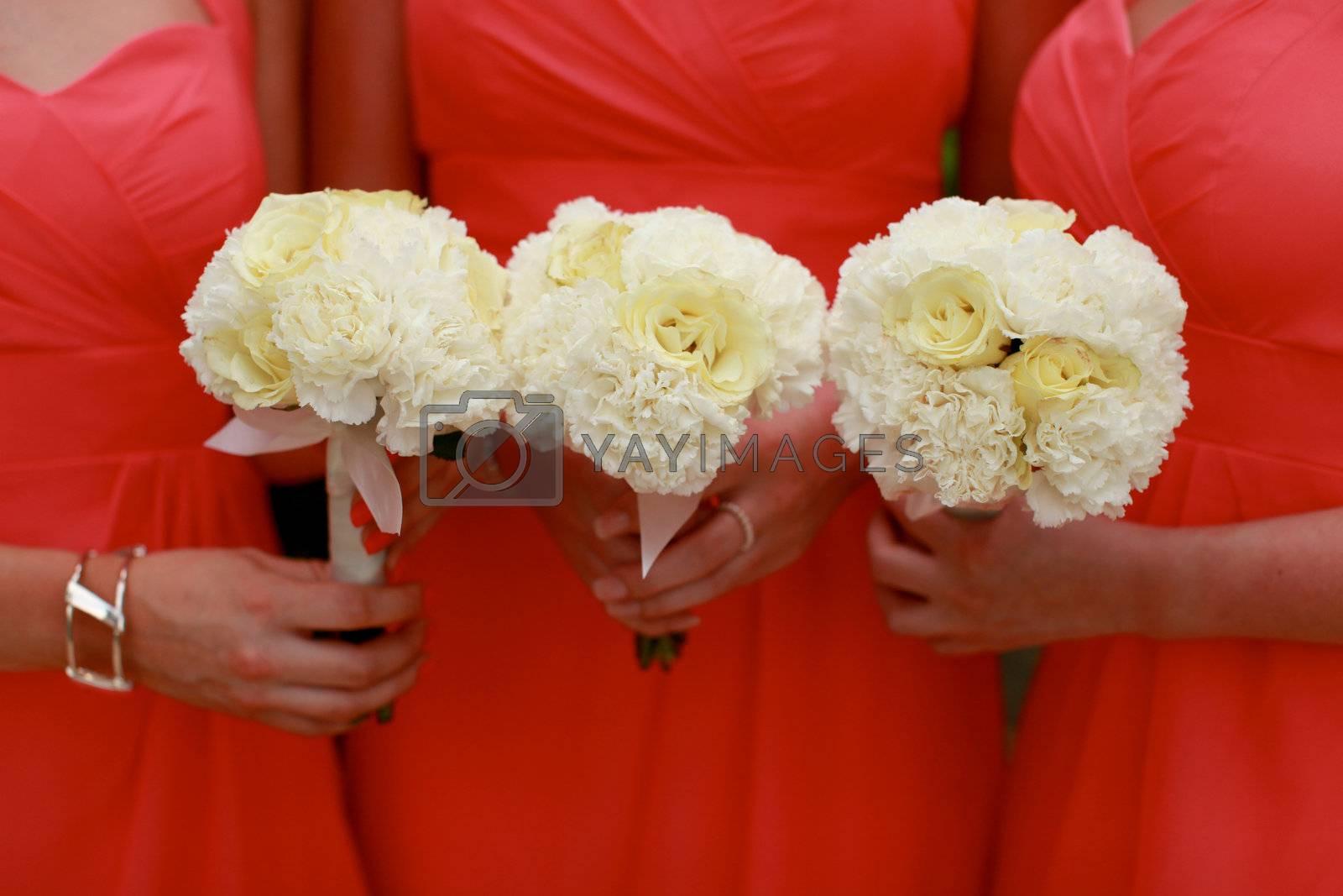 Bridesmaids bouquets by ginaellen