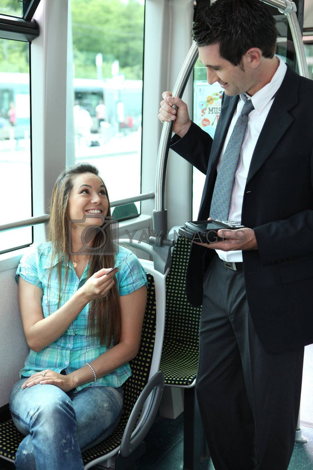 picture of a ticket collector