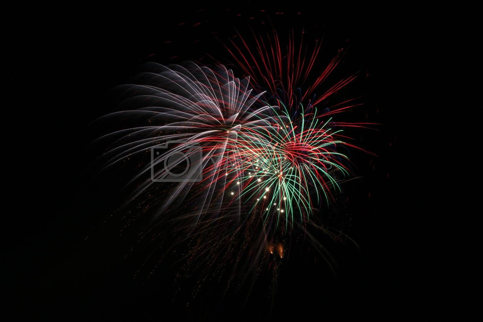 Fireworks during a religious festivity in the south of Italy