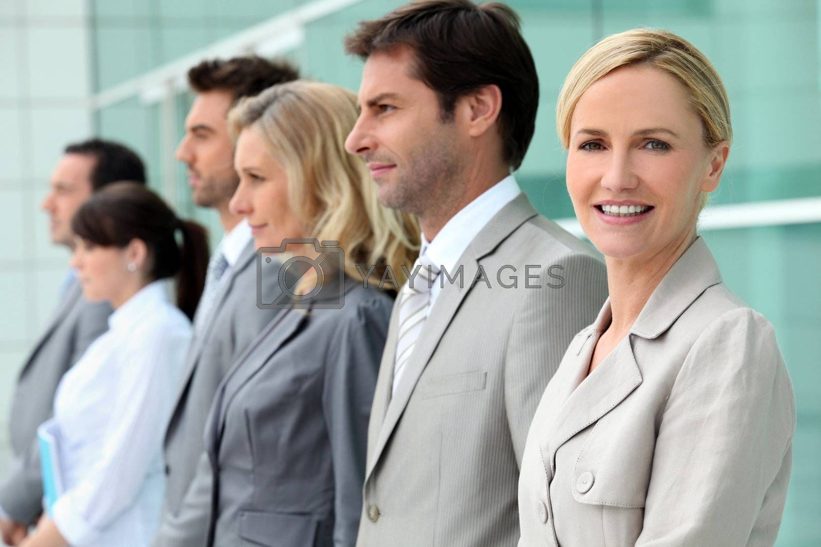 woman in business team