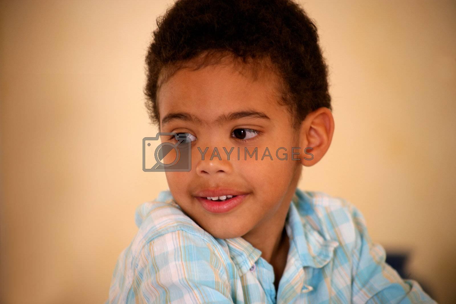 Portrait of little black boy