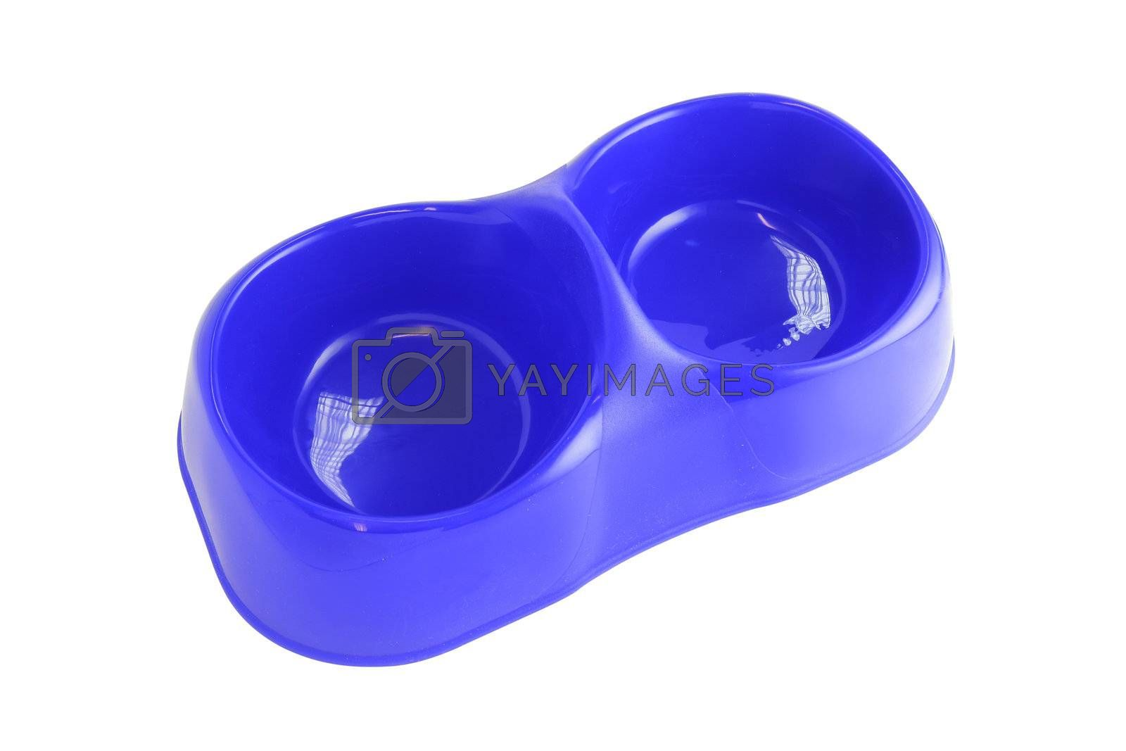 Plastic animal food and drink bowls