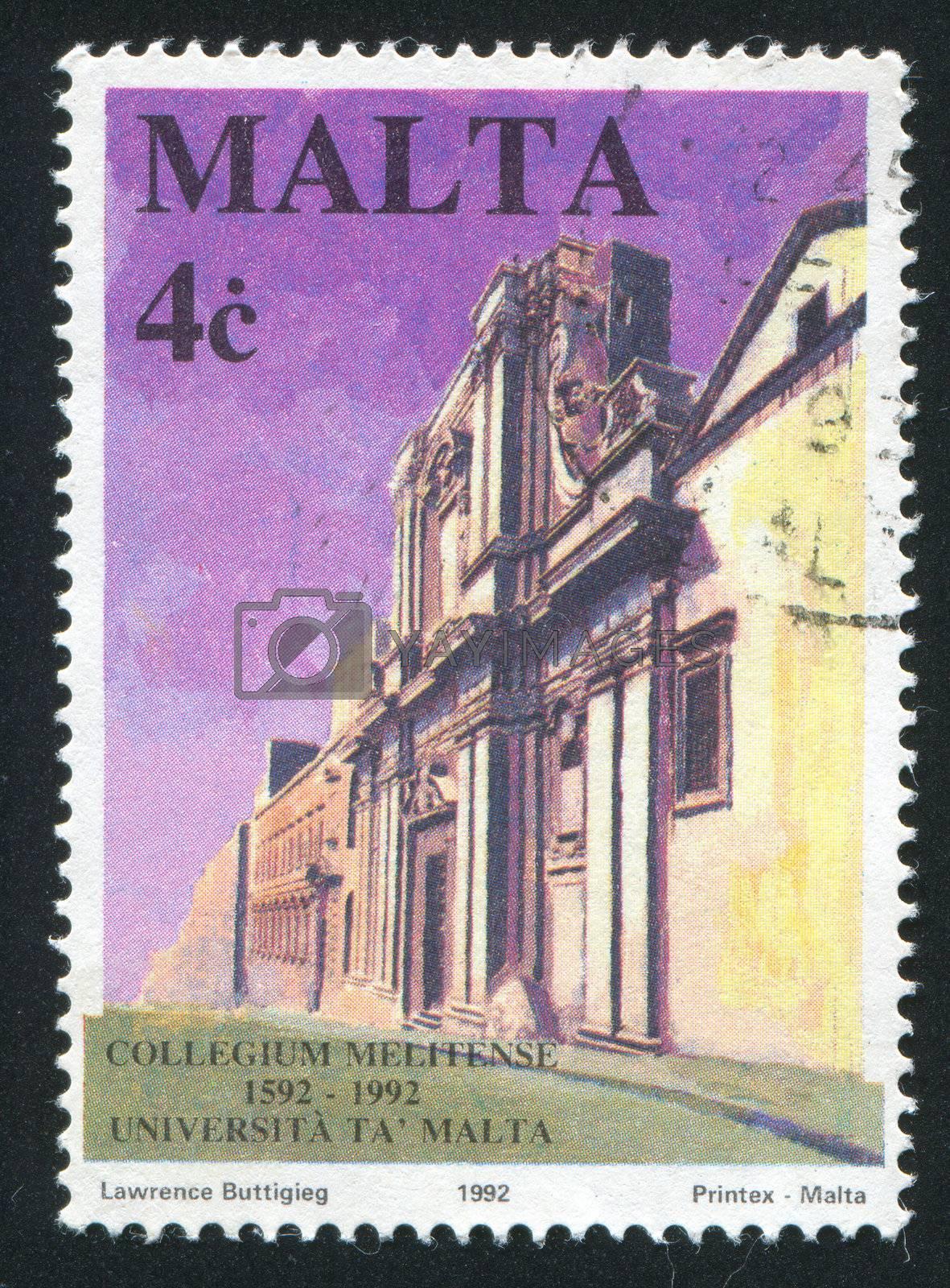MALTA - CIRCA 1992: stamp printed by Malta, shows University of Malta, circa 1992