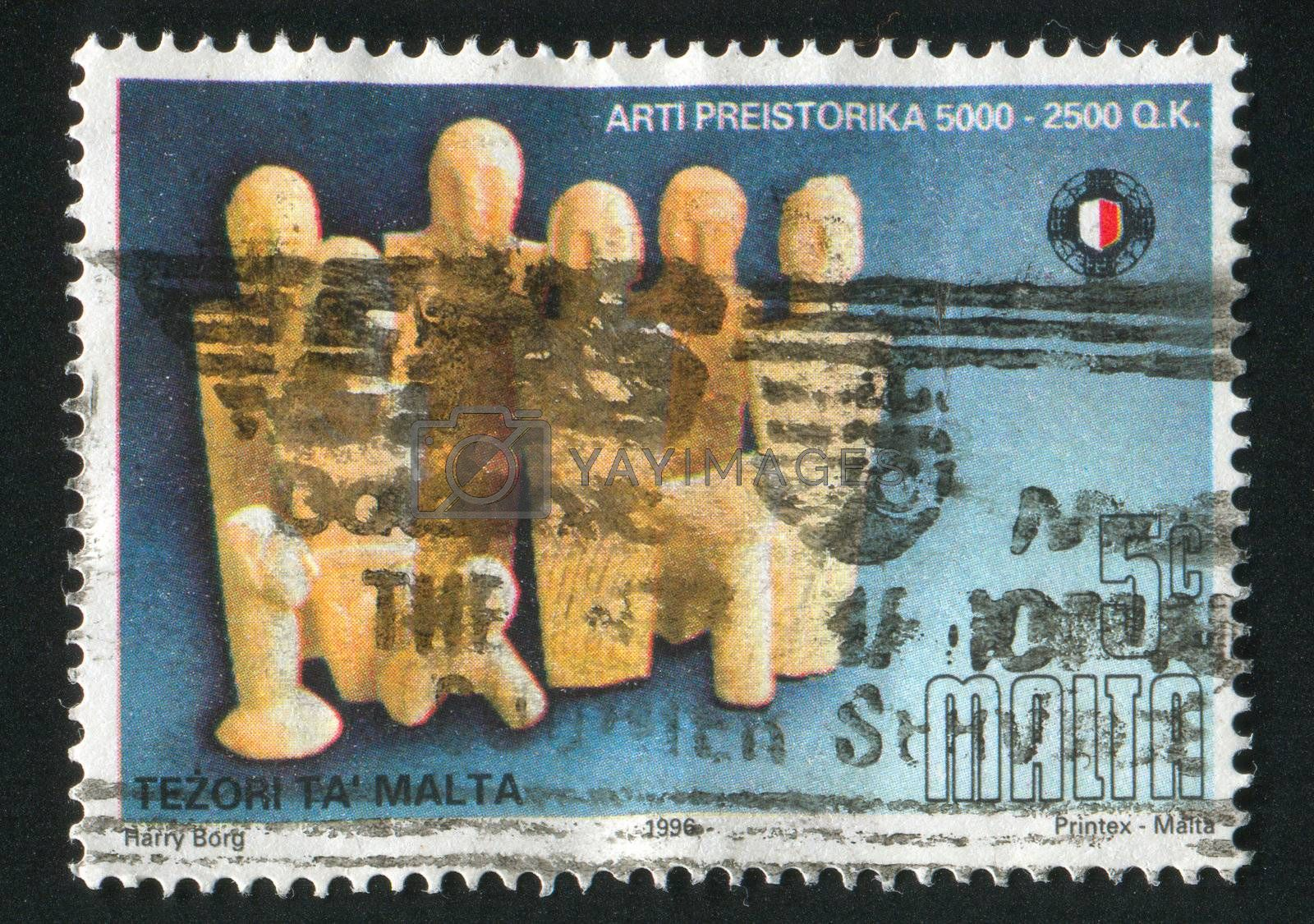 MALTA - CIRCA 1996: stamp printed by Malta, shows People, Animals, circa 1996