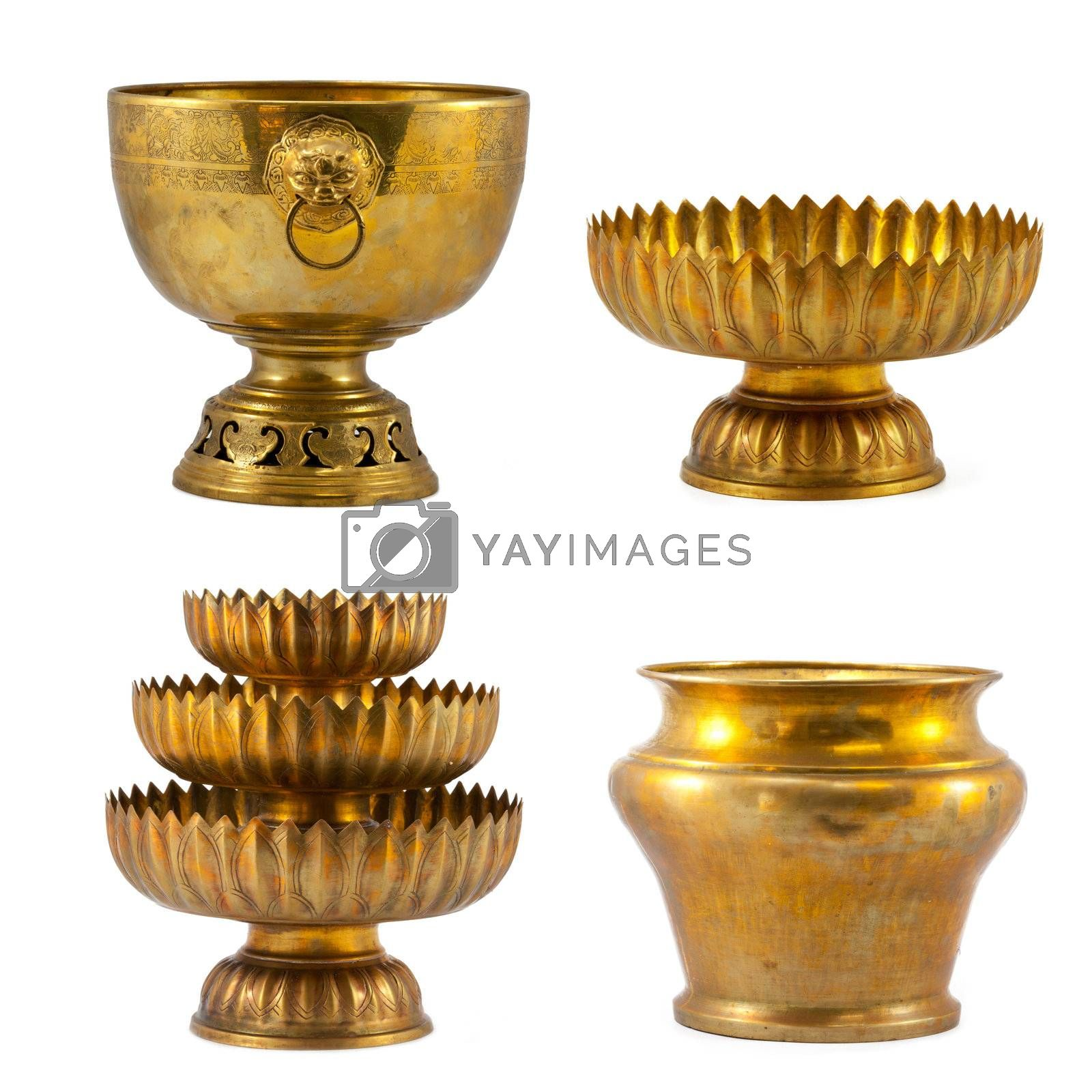 Old antique vintage gold collection by witthaya
