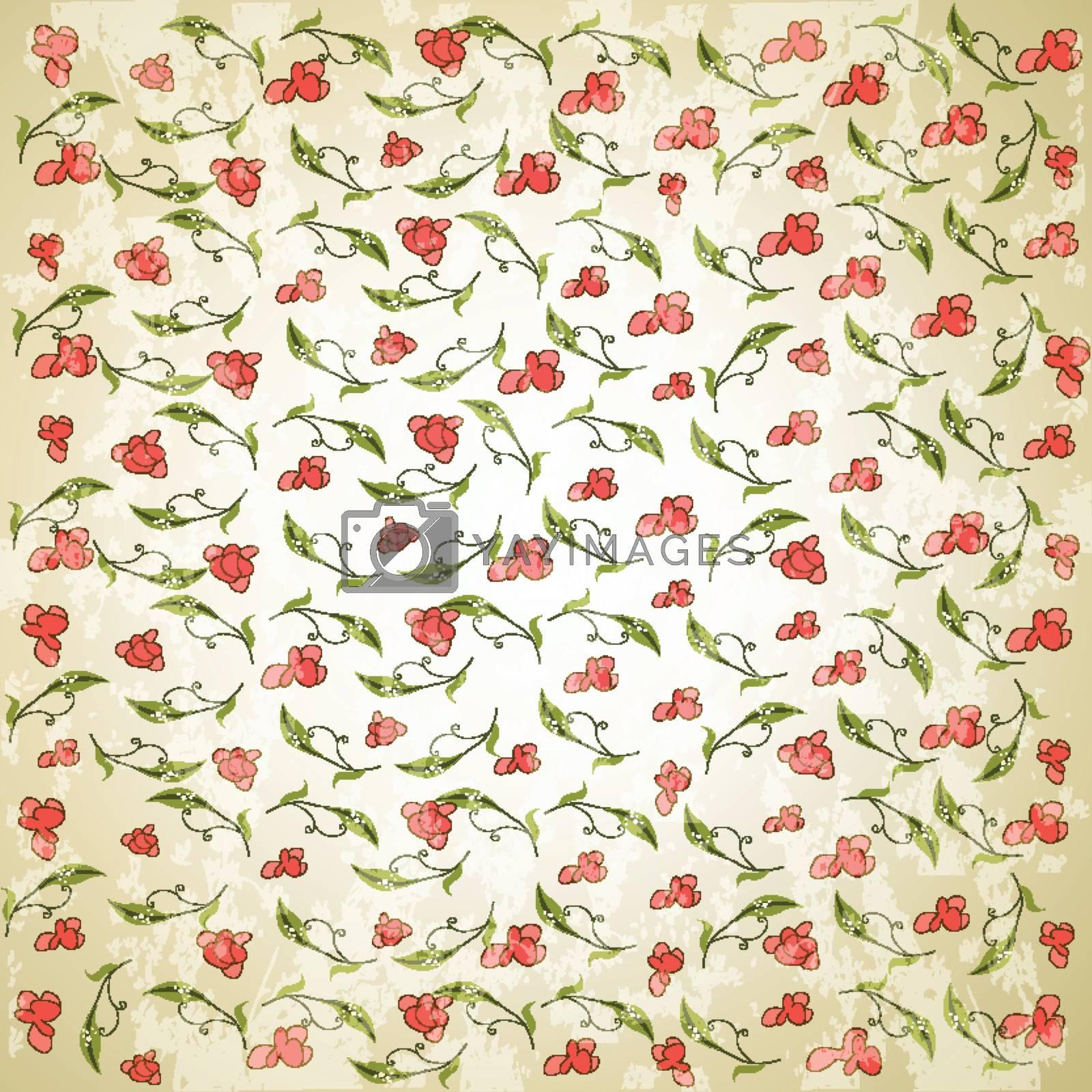 vintage vector floral background