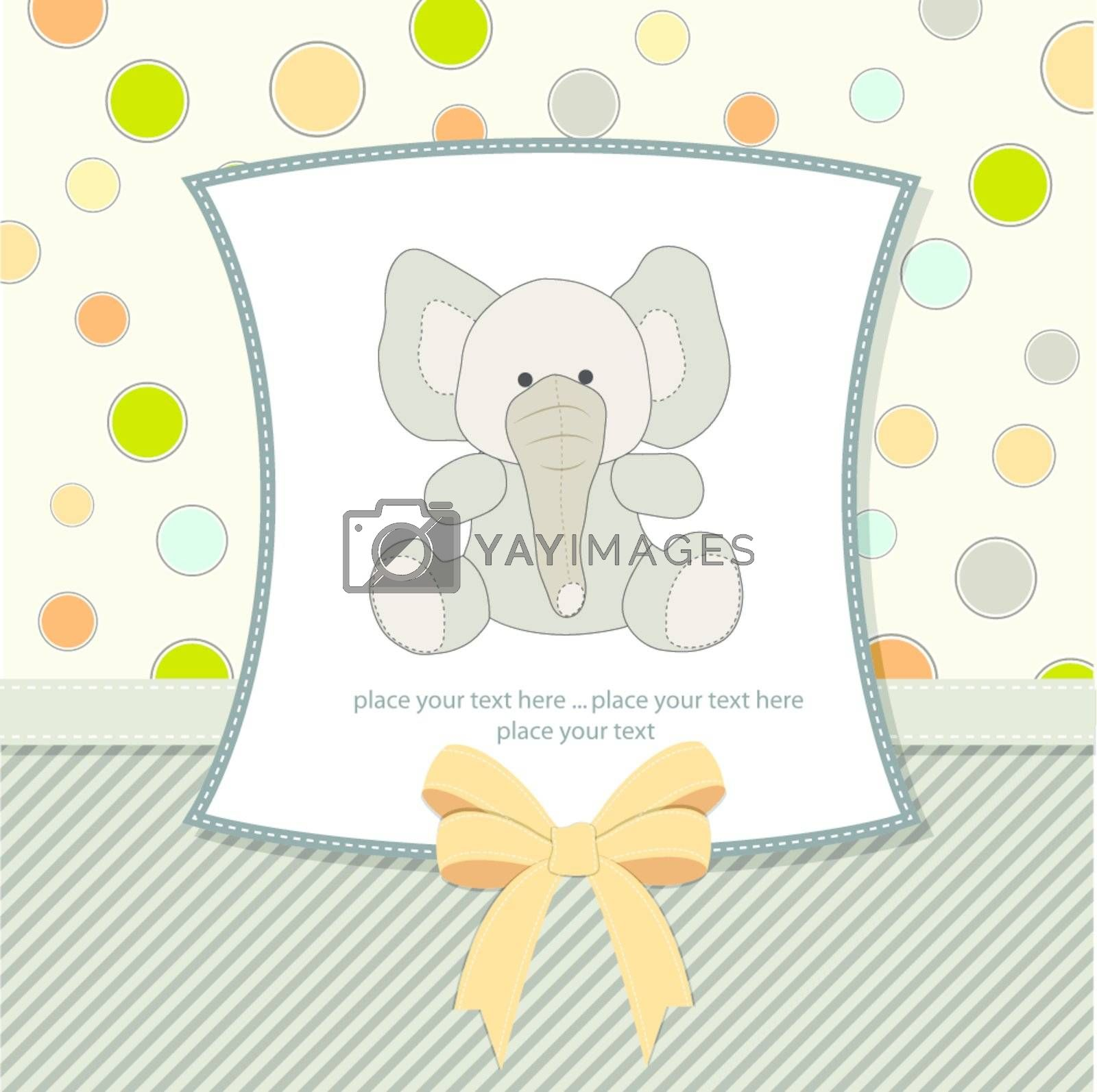 greeting card with elephant