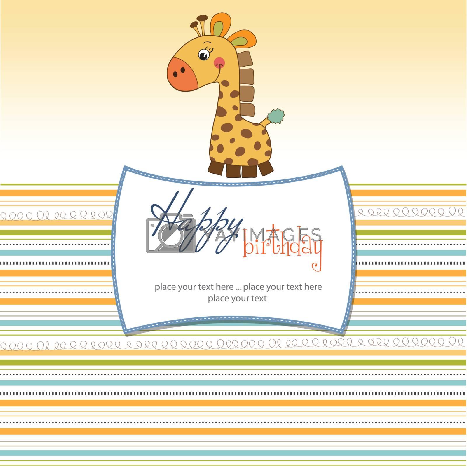 birthday card with giraffe