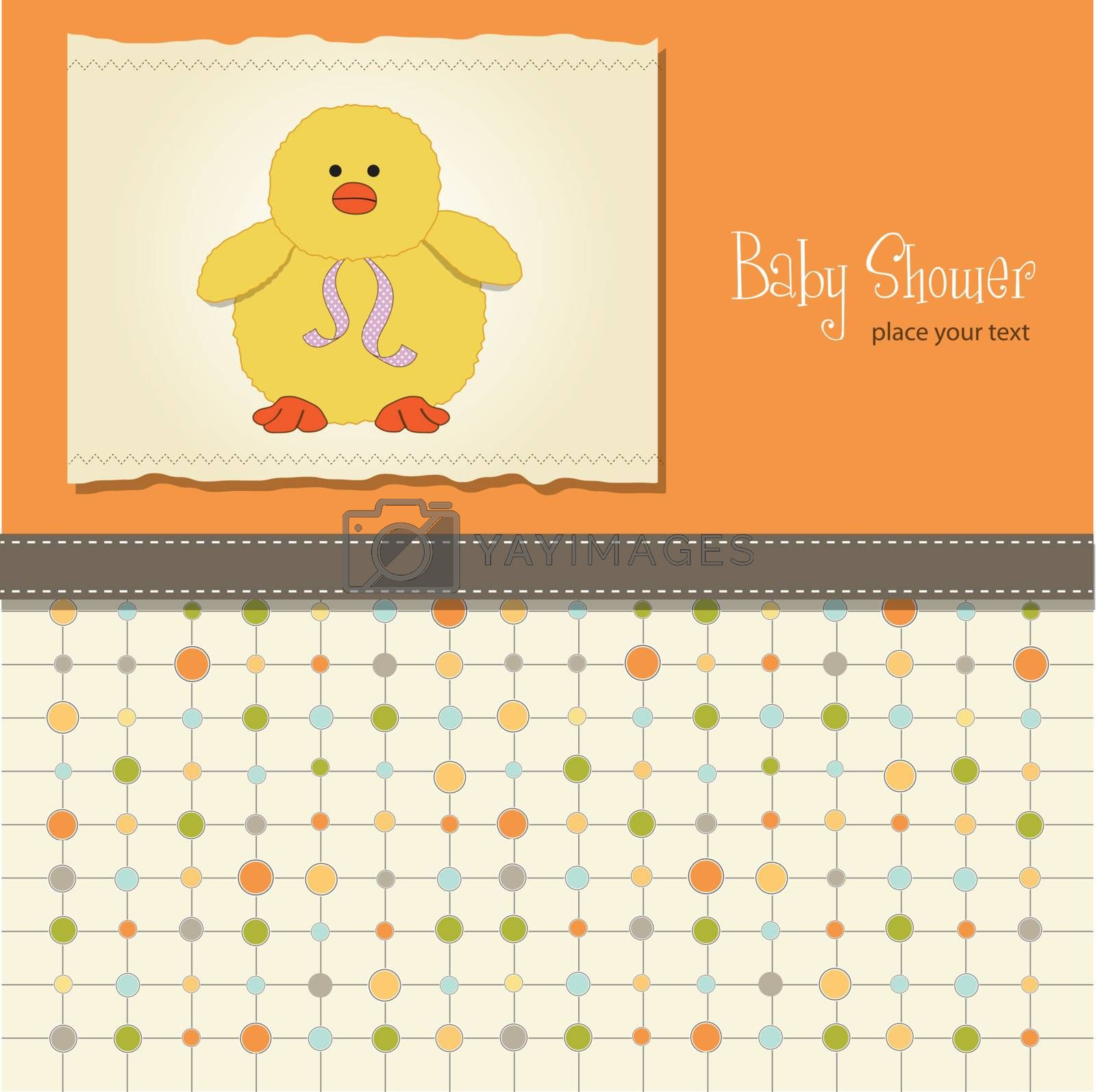 new baby announcement card with duck         birthday cupcake