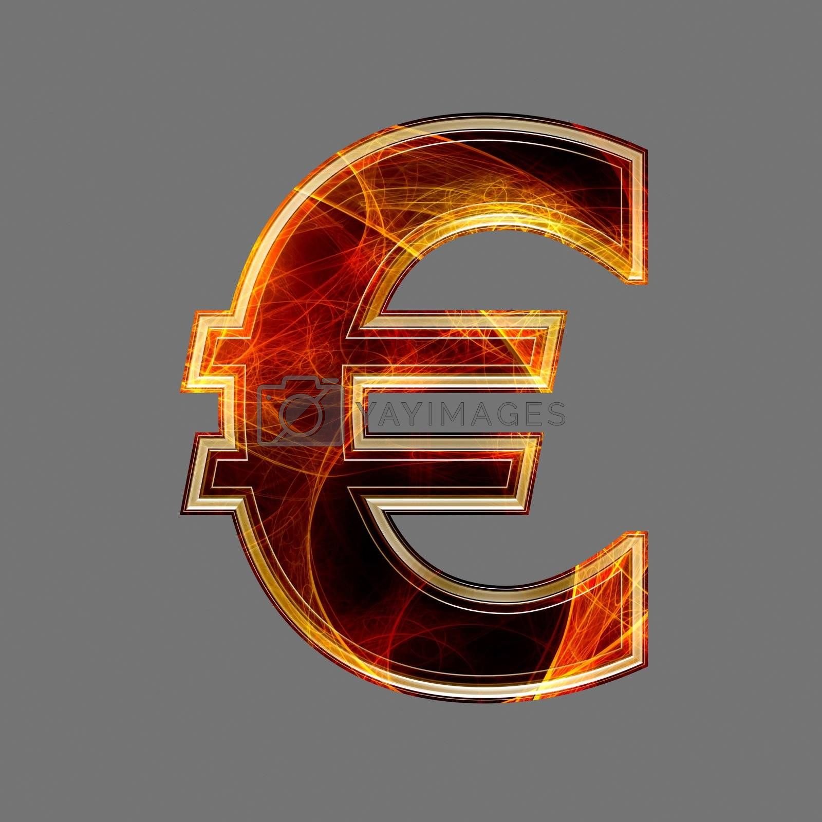 3d abstract and futuristic currency sign - euro
