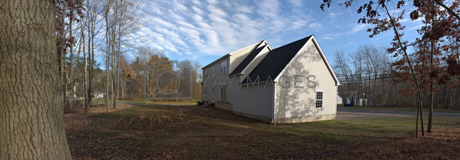 House and Backyard Panorama by graficallyminded