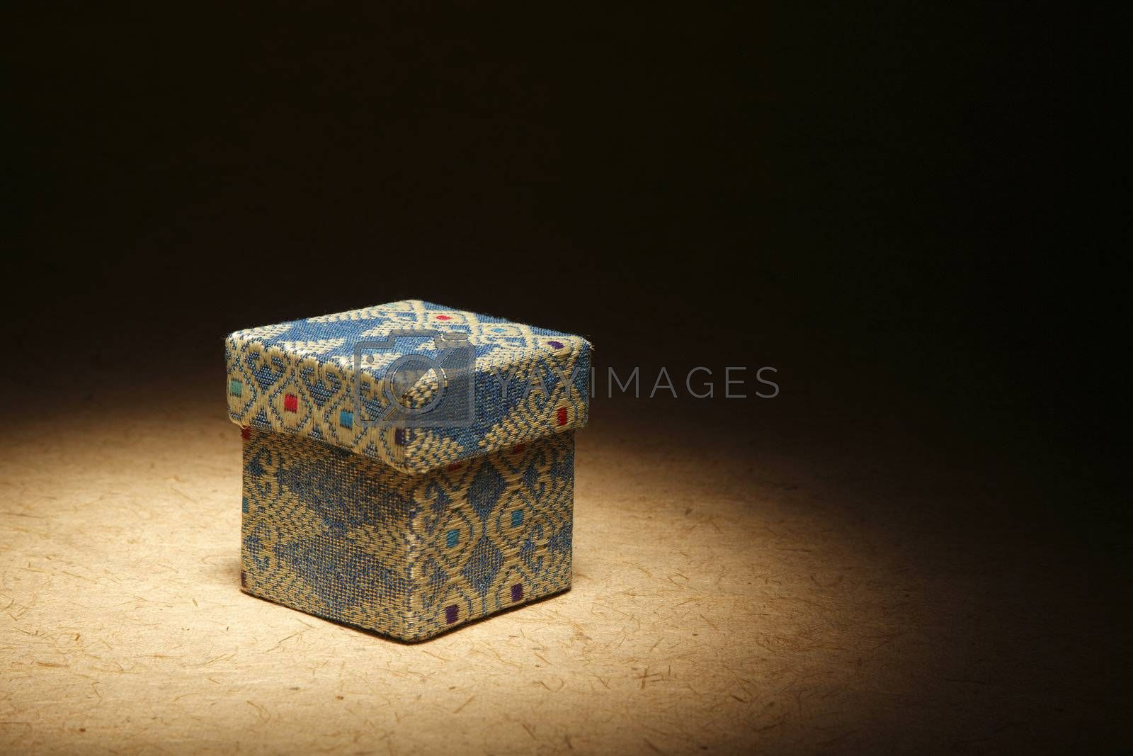 asiian design of the gift box on the brown background