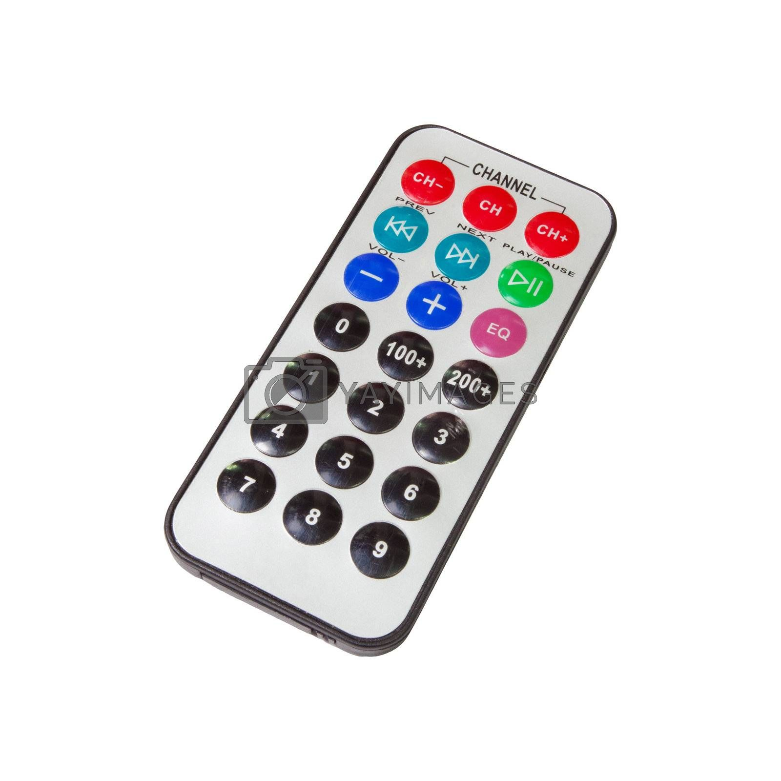 Old dirty remote isolated on white background