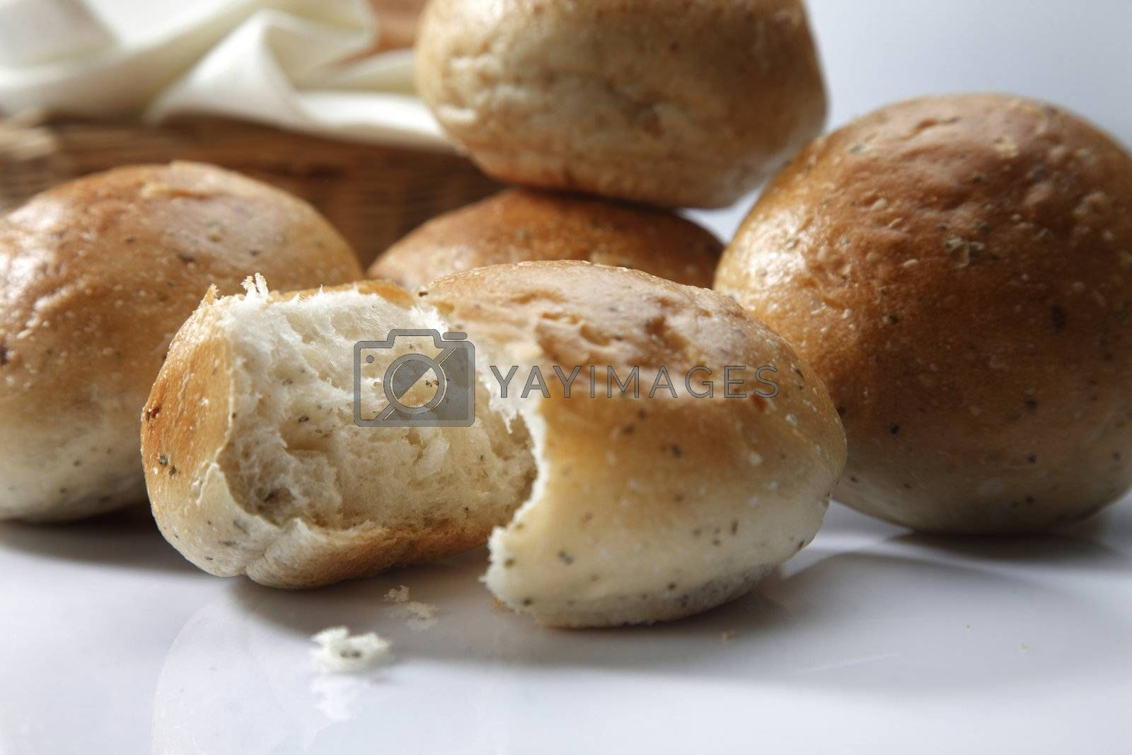 close up of the bread