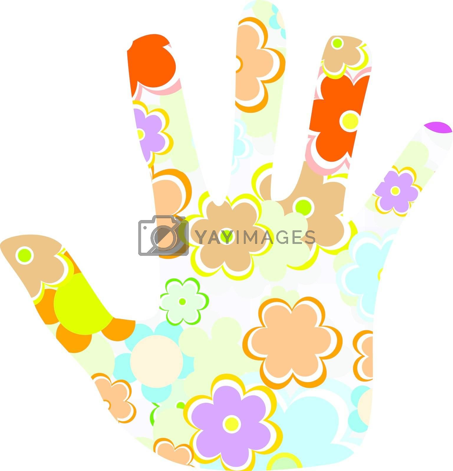 hand made from cute flower isolated on white background