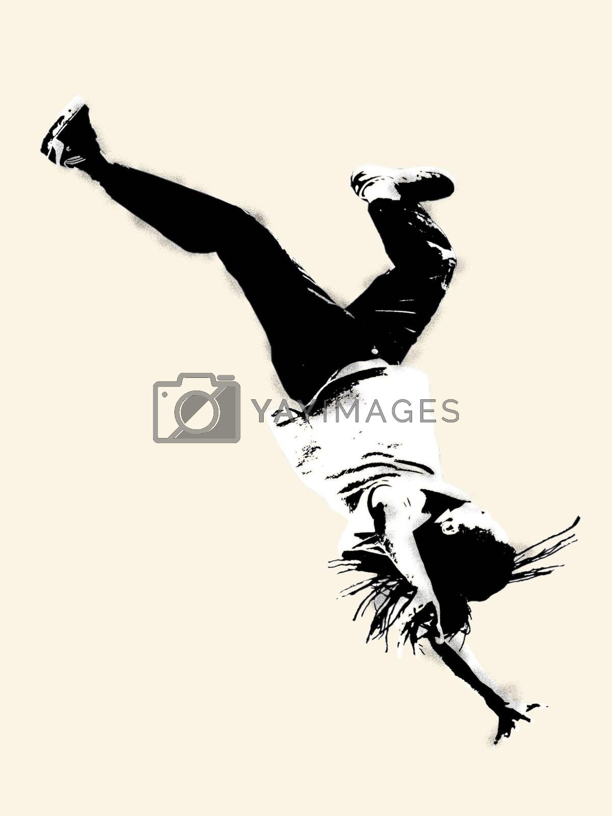 silhouette of a braek dancer