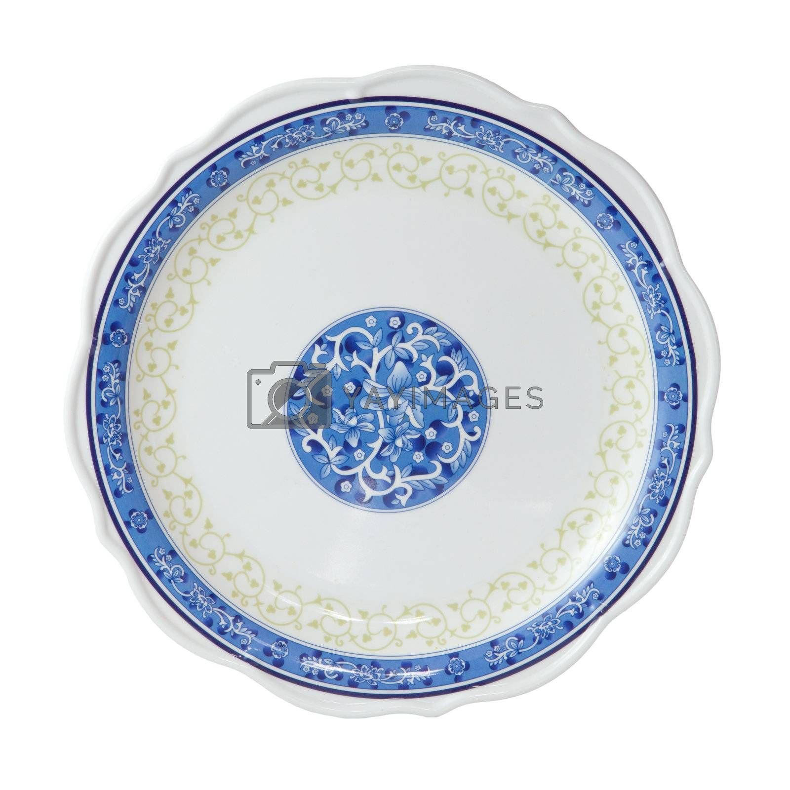 Painted plate isolated by witthaya