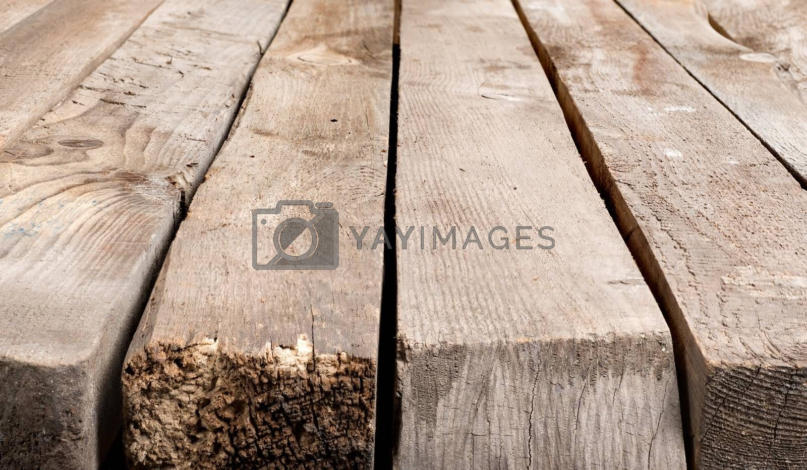Background of the old brown boards
