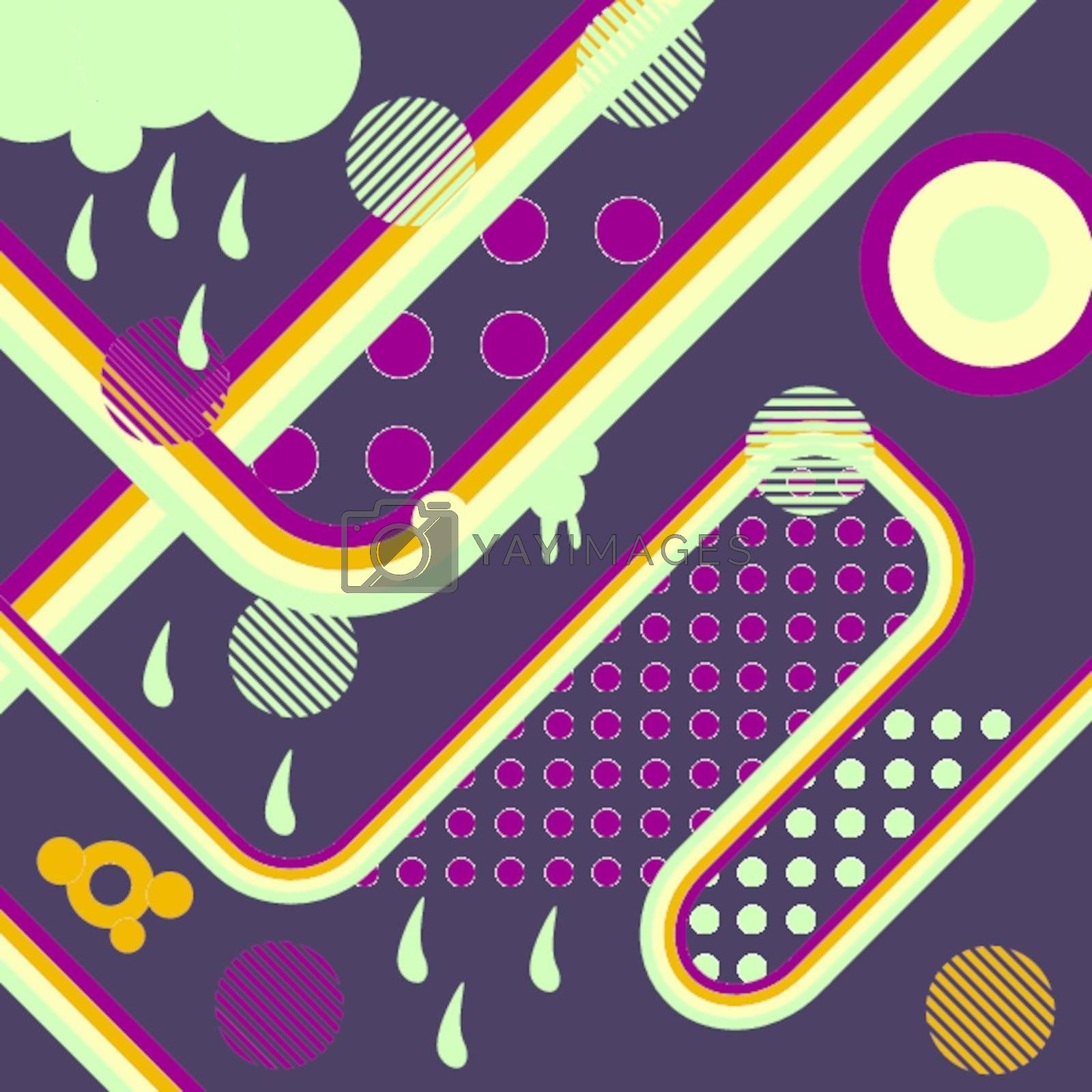 Cool retro abstract background. Vector