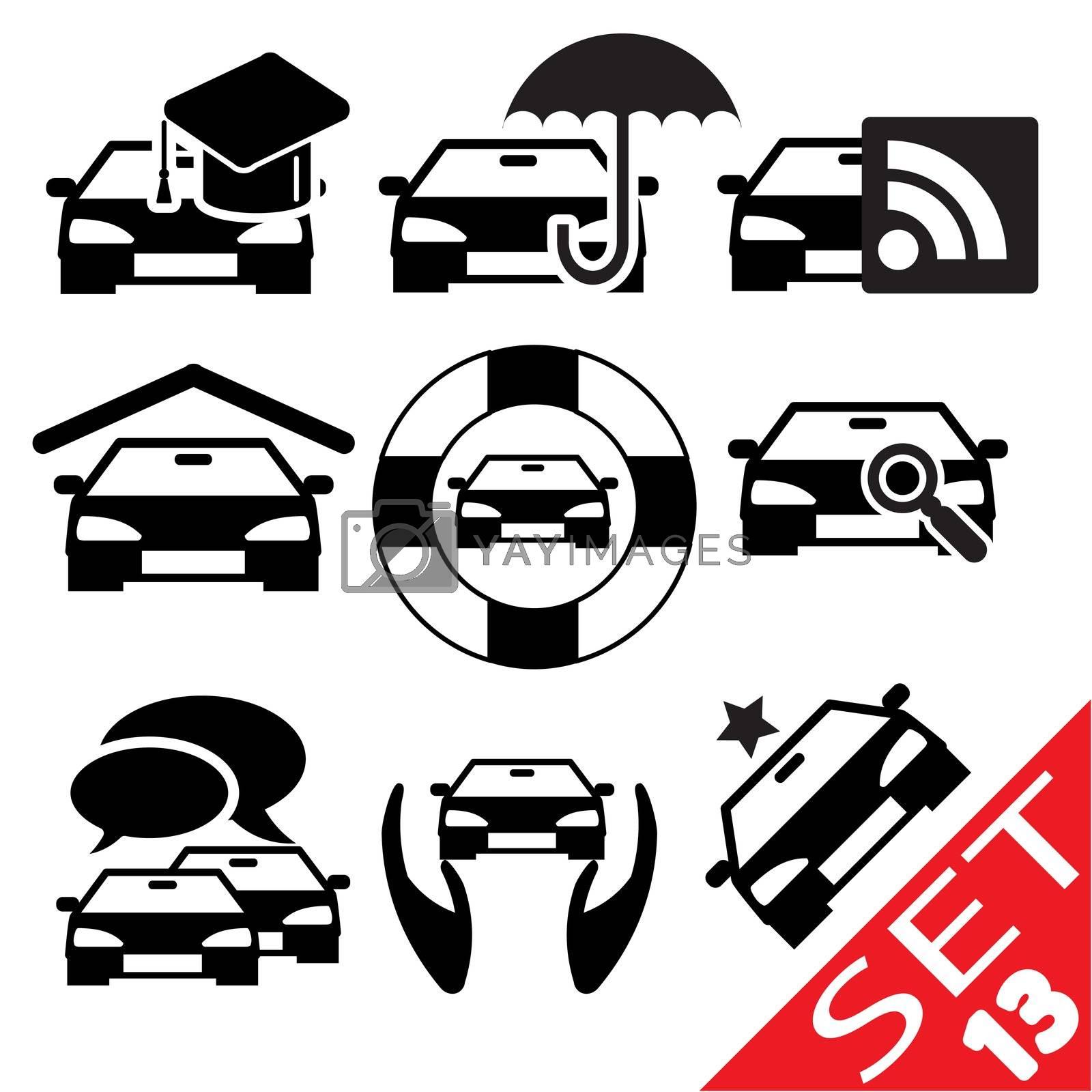 Car part icon set 13 by smoki