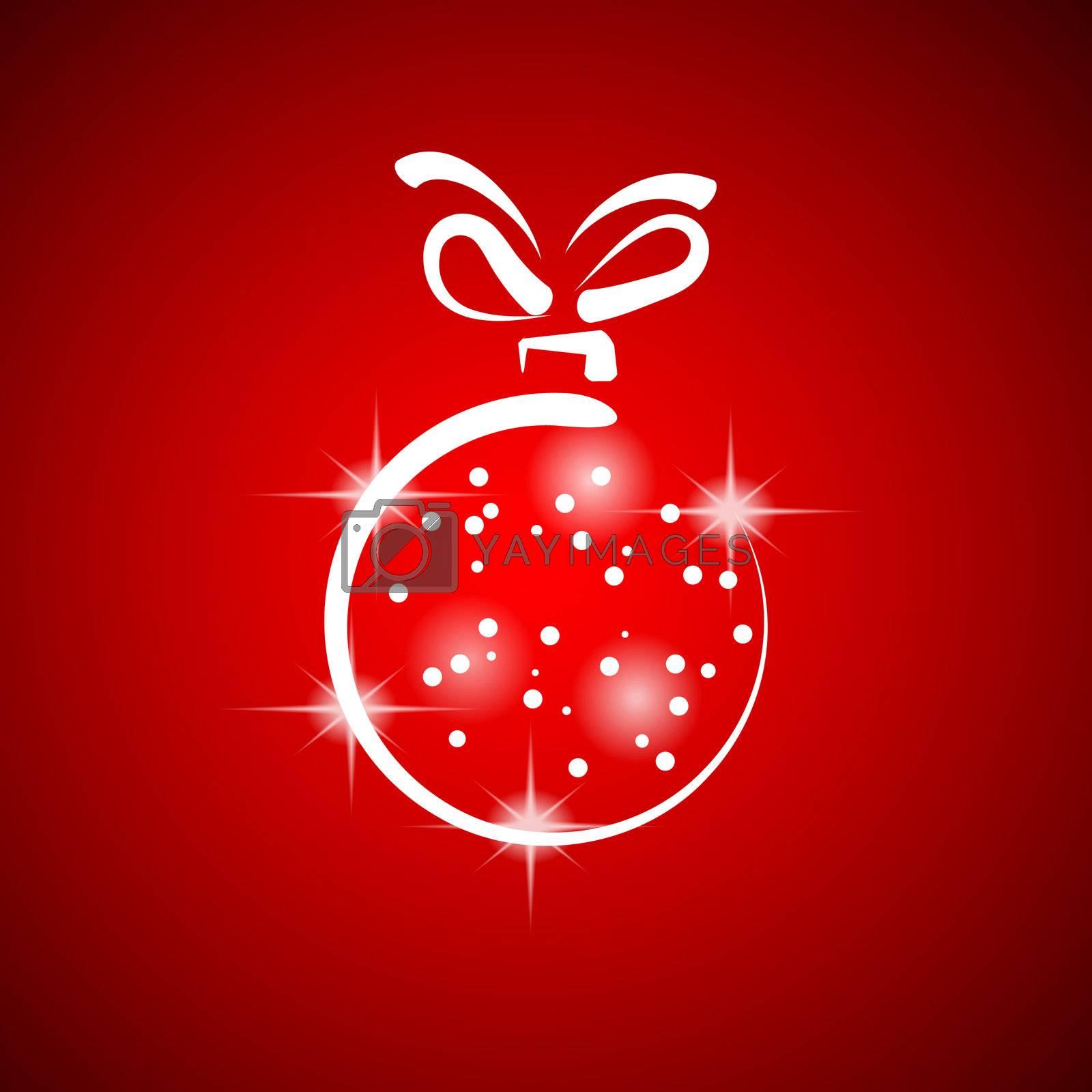 Christmas decoration stylized ball. Vector illustration.
