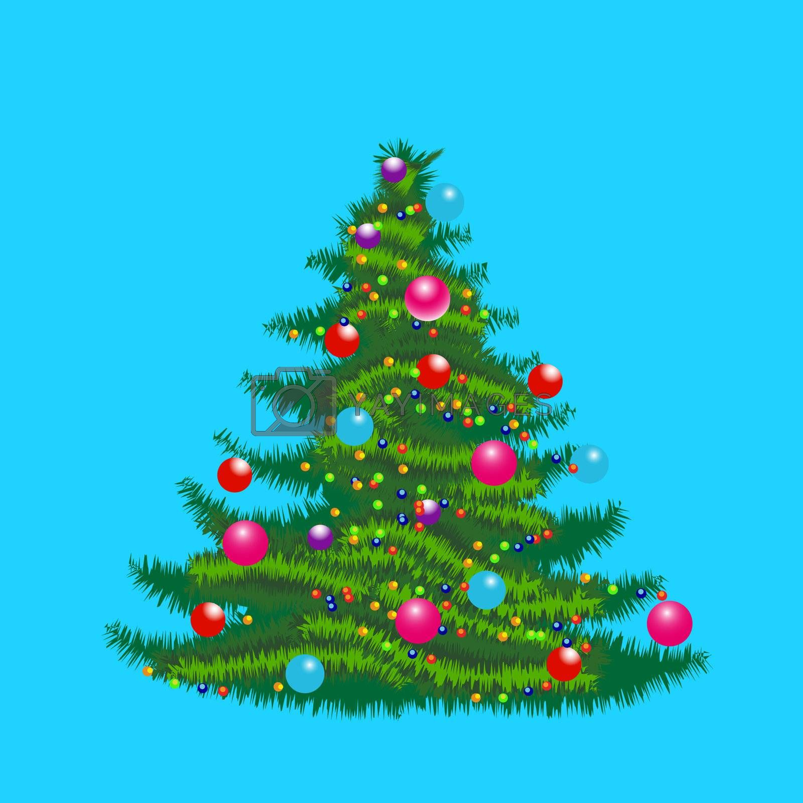christmas tree by smoki