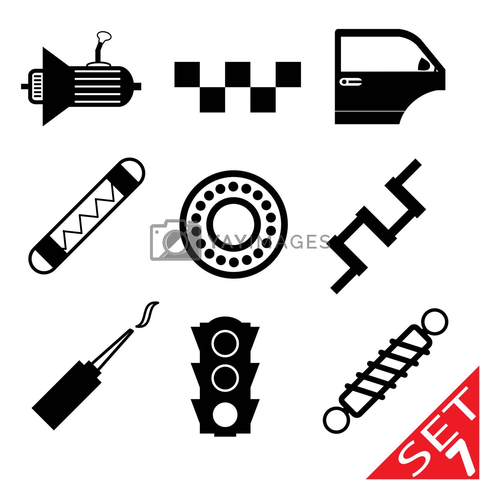 Car part icon set 7. Vector Illustration EPS8