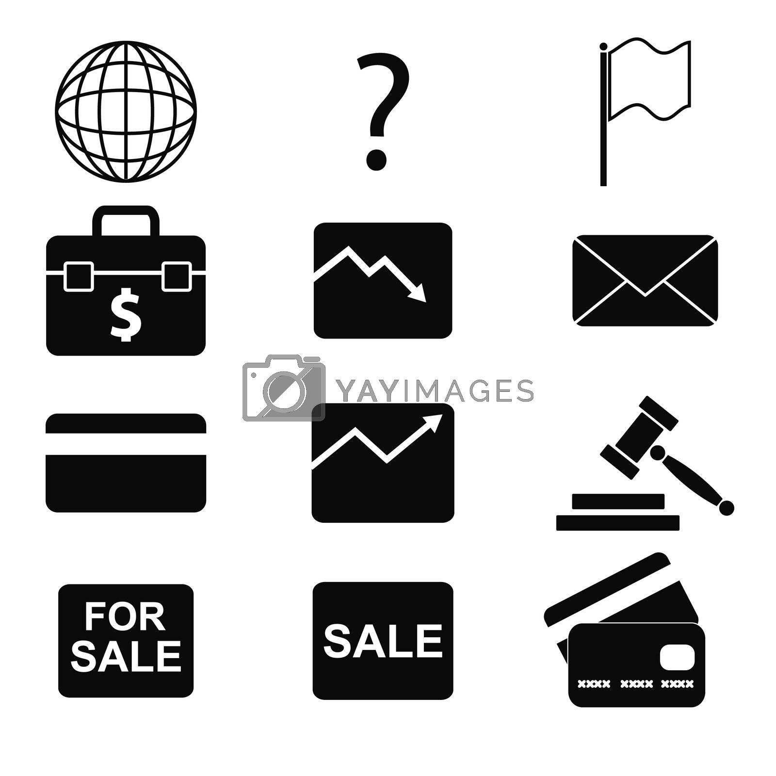 vector business icons set 9