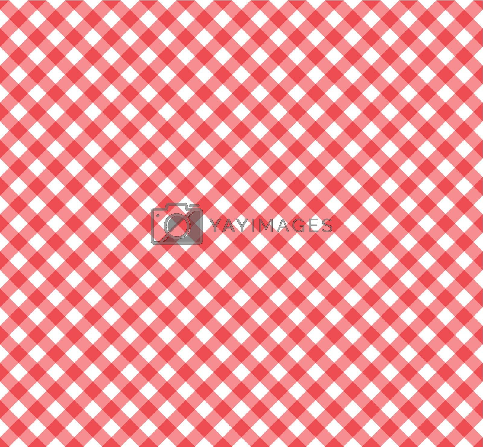 seamless gingham pattern in red and white.