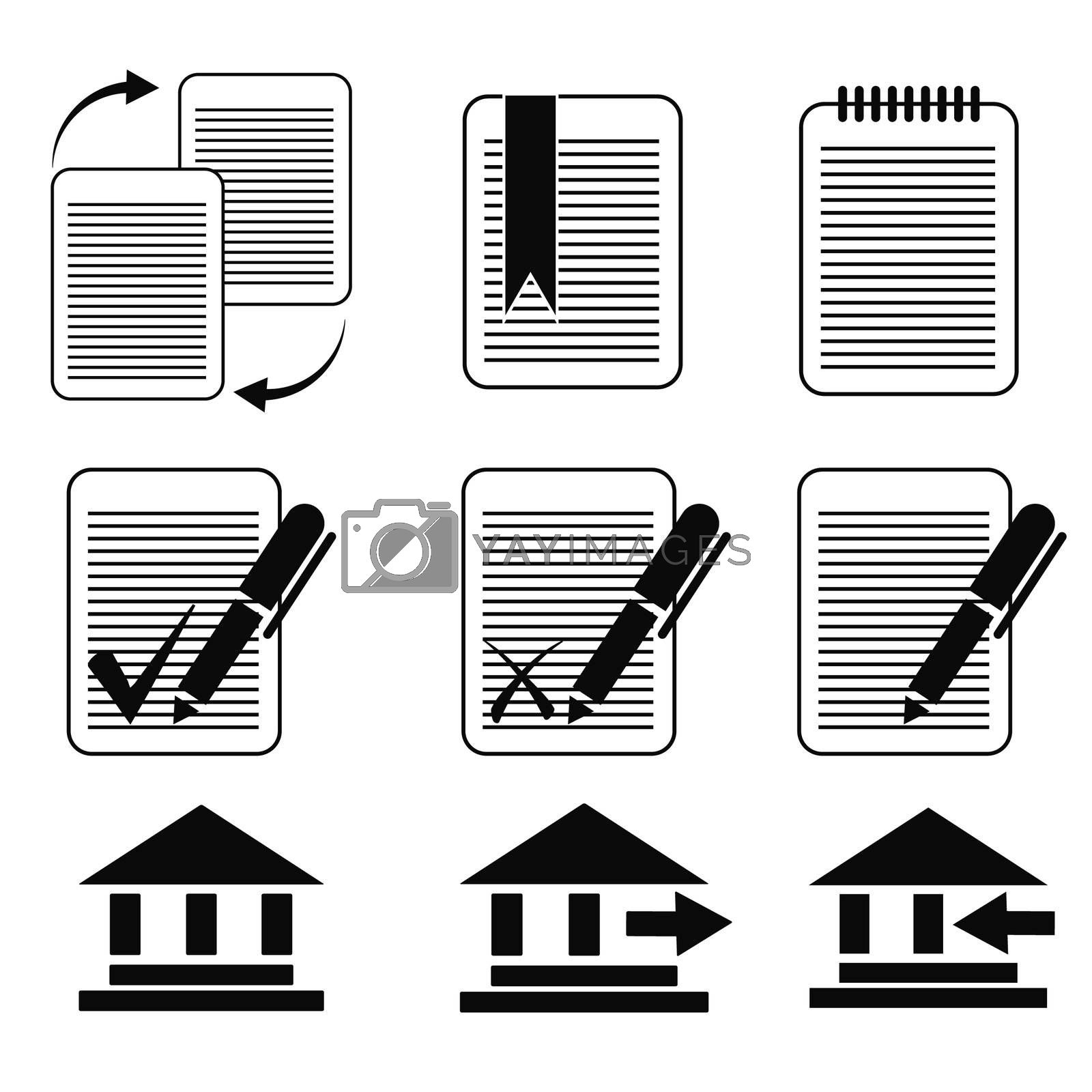 vector business icons set 8