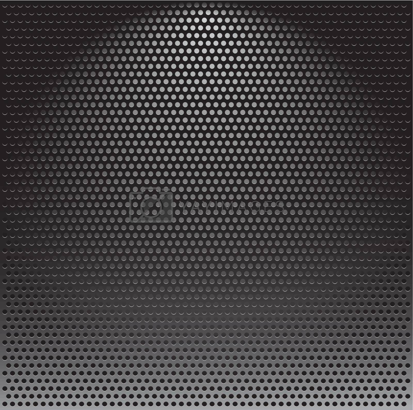 Realistic vector speaker grill background