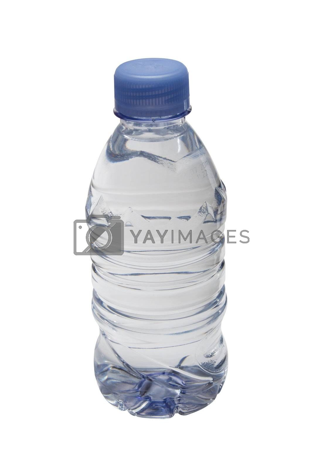 Plastic bottle of clean water. Isolated on white background