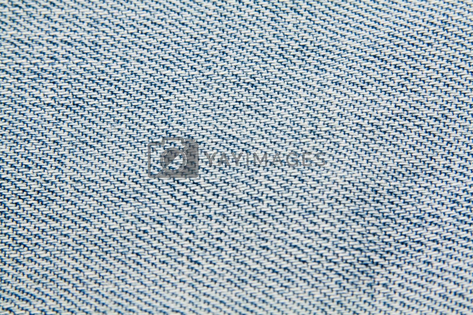 close-up of blue jean material, denim