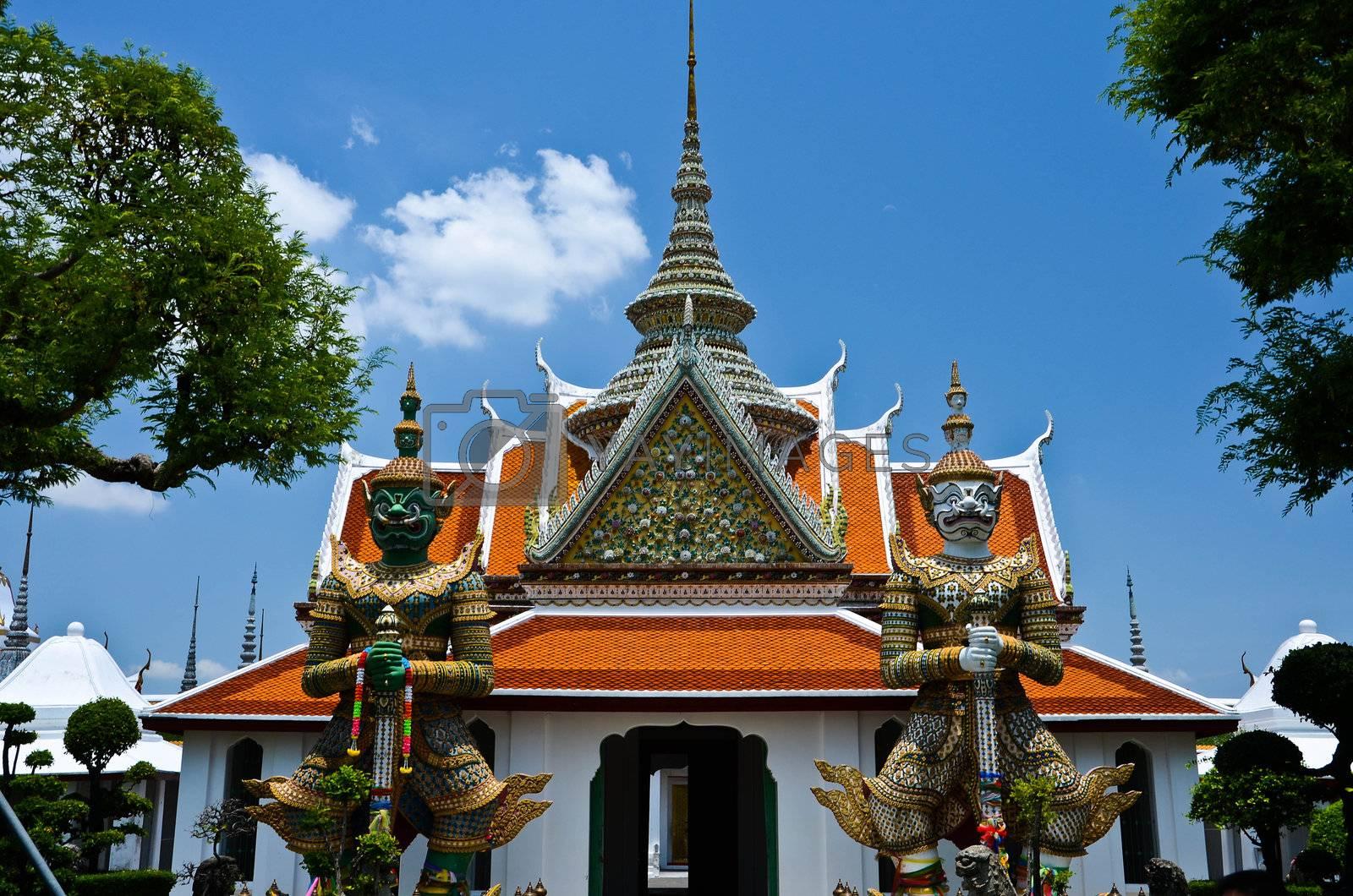 Wat Arun The Temple of Dawn Bangkok Thailand.