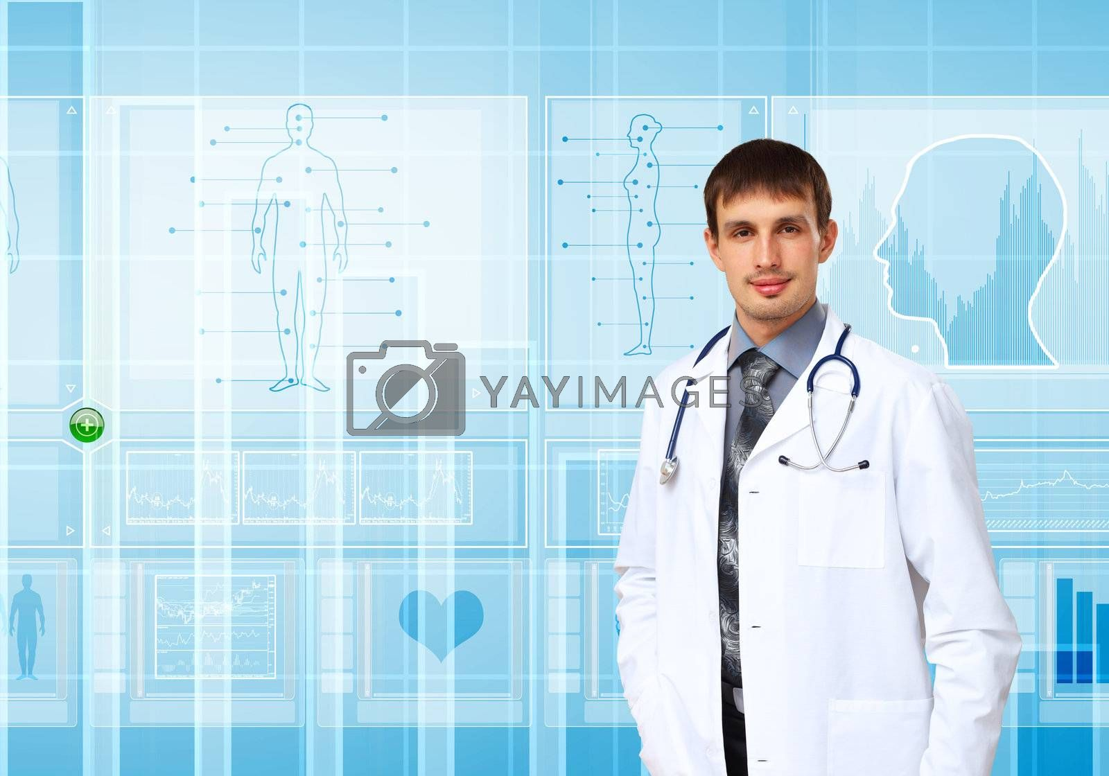 Royalty free image of Medicine and technology by Sergey Nivens