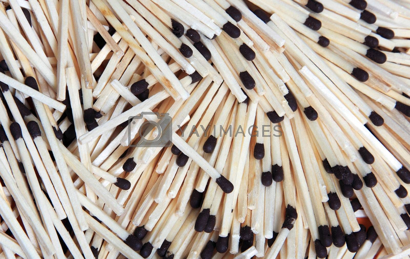 Texture of the wooden matches