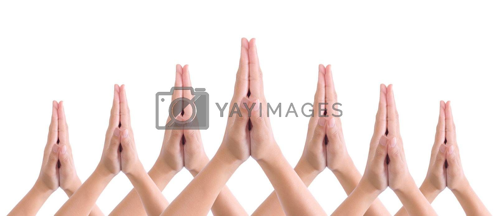 put hands together in salute