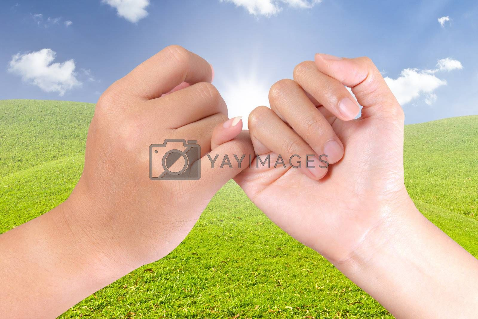 hand linking finger