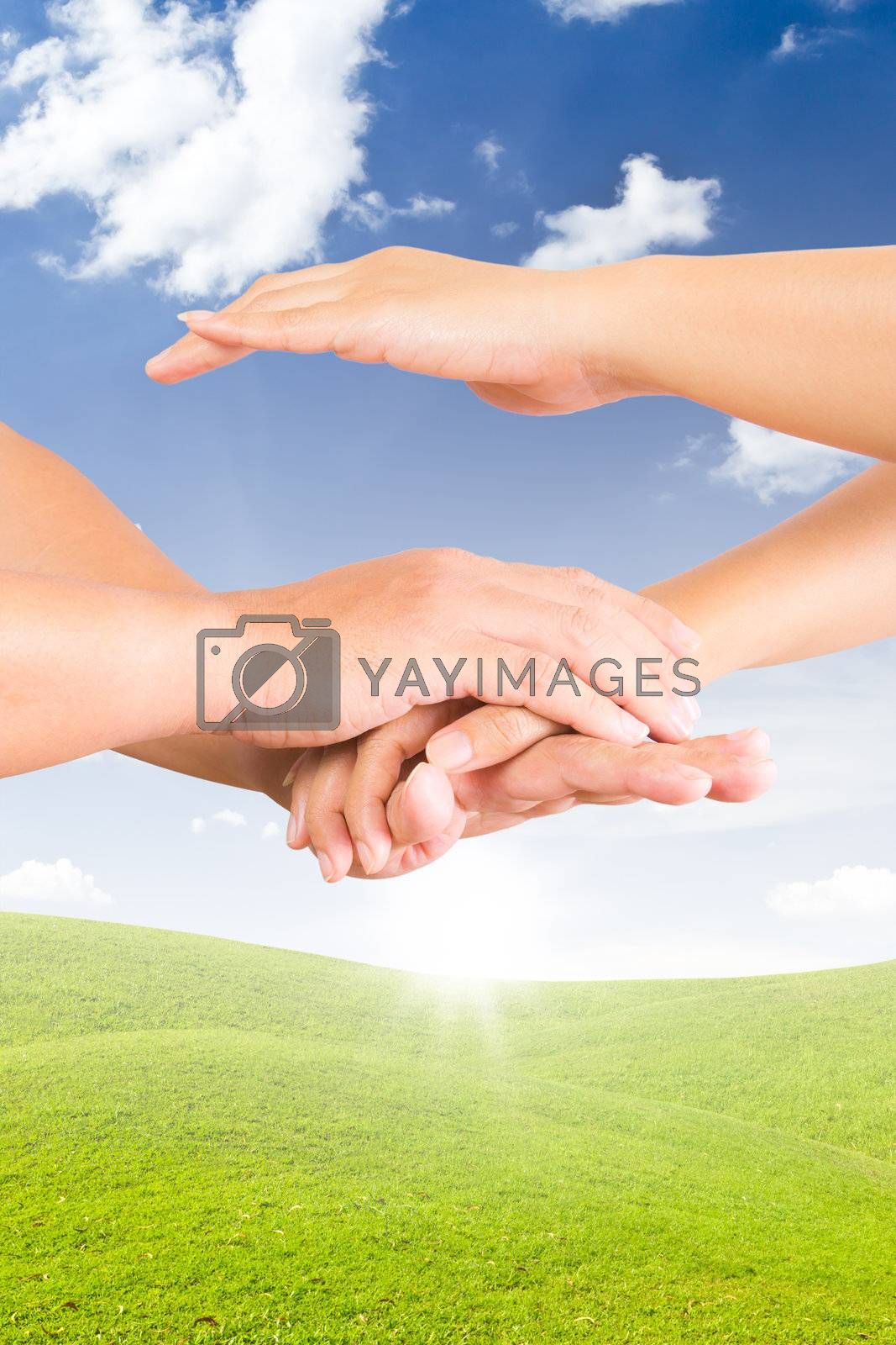 holding hand for new day