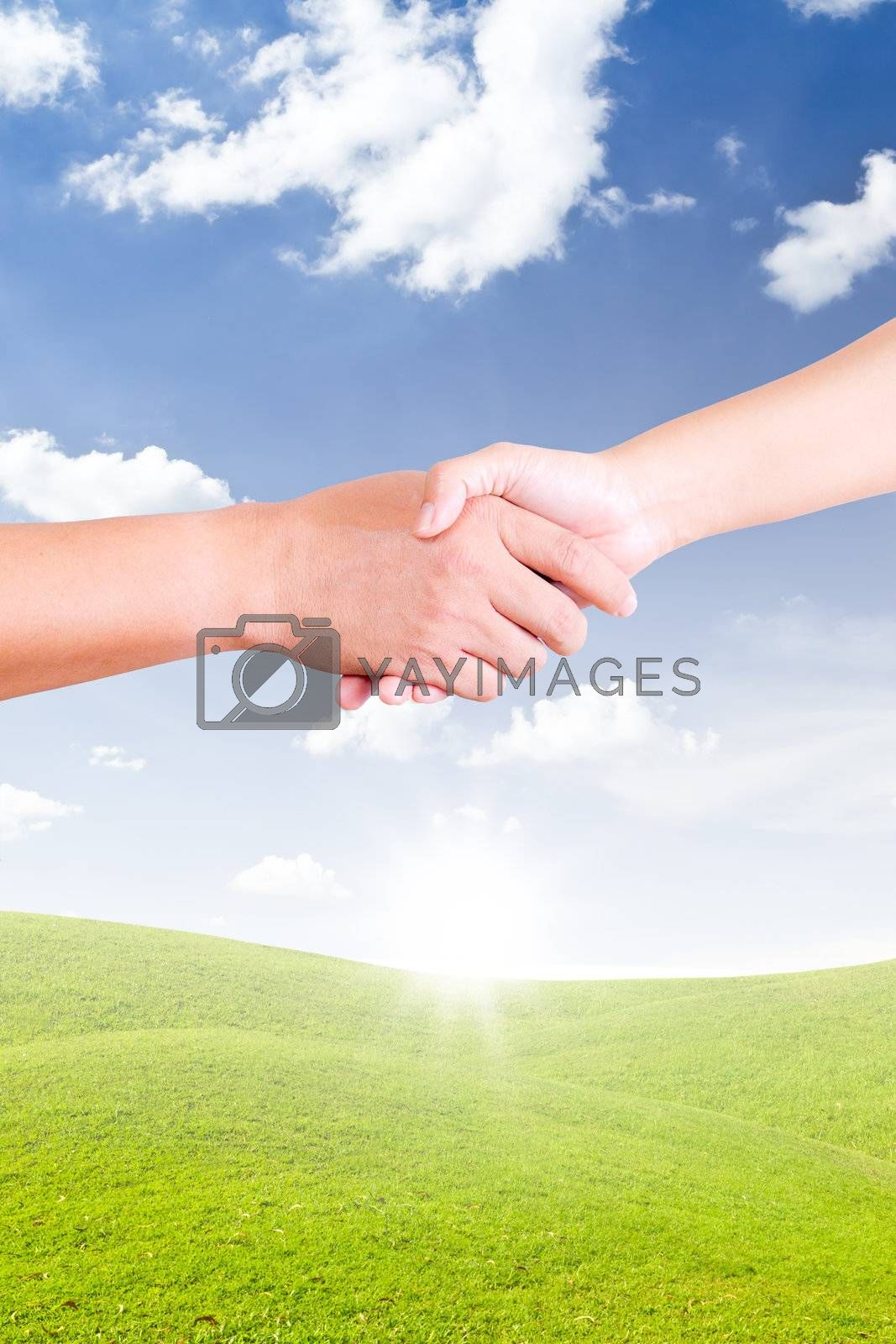 hand shaking for new day
